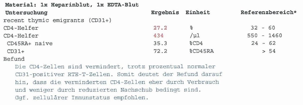 Thymusfunktion / Thymusreserve (CD31) - Naturheilpraxis Wilfried P ...